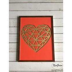 Geometryczne Serce Obraz