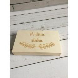 Pudełko na banknoty -ślub 2