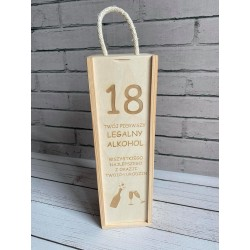 Skrzynka na wino 18 urodziny