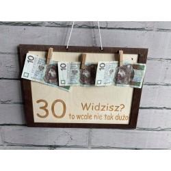 Tablica z banknotami
